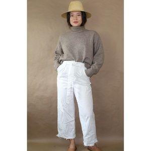 (236) high waisted white paperbag waist pants